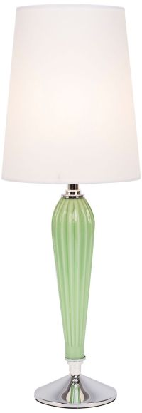 Colette Apple Glass Table Lamp with White Parchment Shade ...