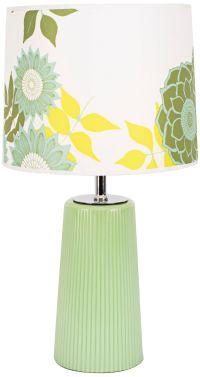 Martha Apple Glass Table Lamp with Anna Green Shade ...