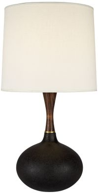 Pops Deluxe Cast Iron Ceramic Table Lamp with Ivory Shade ...