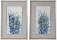 "Uttermost Indigo Florals 41 1/2""H Framed Wall Art Set of 2 ..."