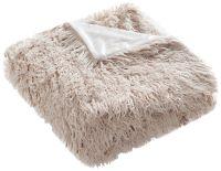 Safavieh Taupe Faux Sheepskin Throw Blanket - #1M436 ...