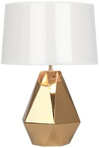 Robert Abbey Delta Gold Metallic Glaze Ceramic Table Lamp