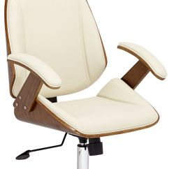 Cream Office Chair Faux Leather Accent Chairs For Bedroom Desk Good Shrum Chrome Adjustable Air