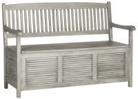 Westmore Gray Wood Outdoor Storage Bench - #1T830 | Lamps Plus