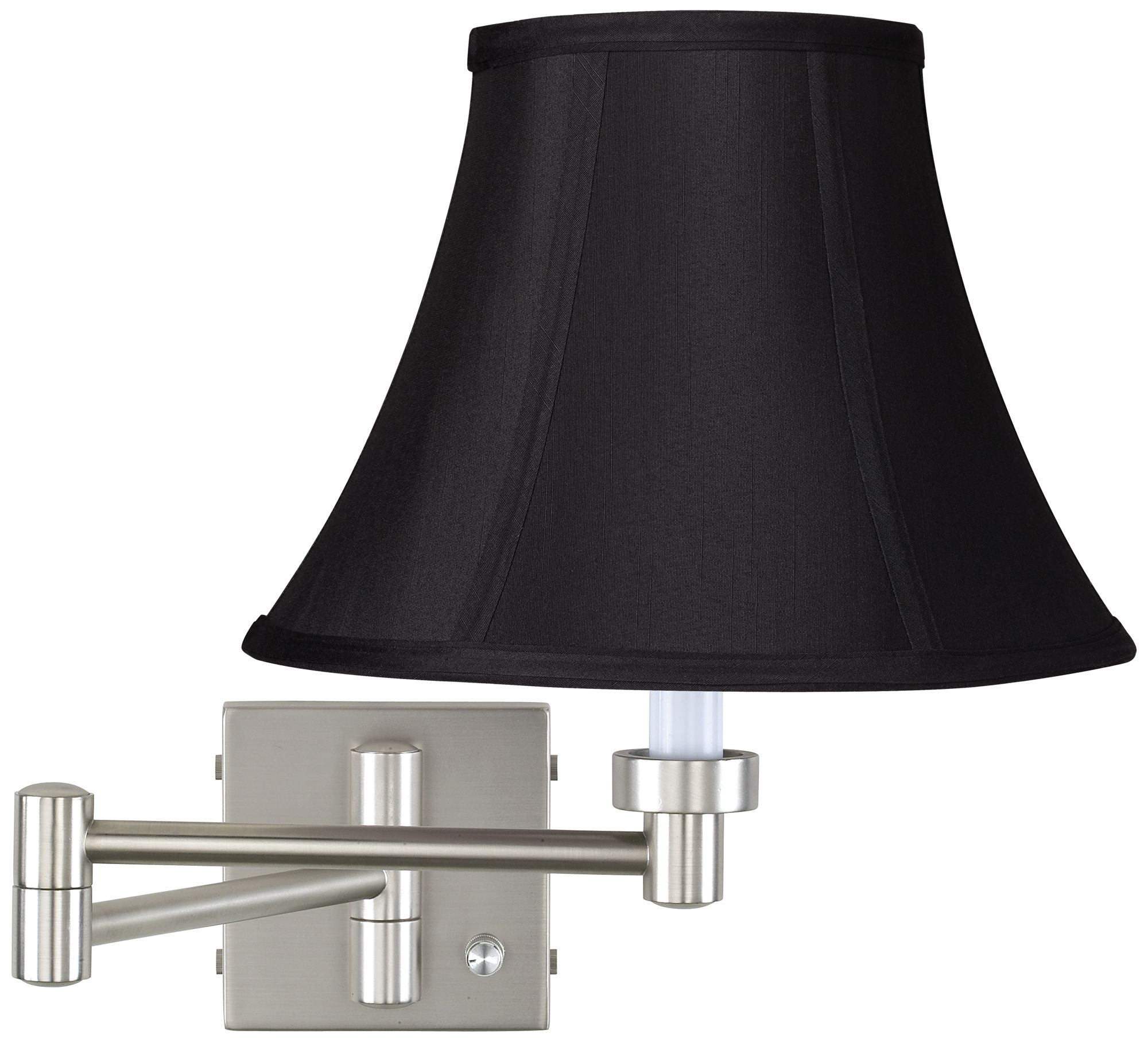 Brushed Steel Black Stretch Shade Plug