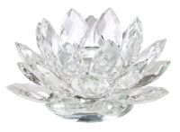 Clear Crystal Lotus Candle Holder - #21711 | Lamps Plus