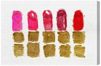Oliver Gal Lipstick Shades Canvas Wall Art - #23H04 ...