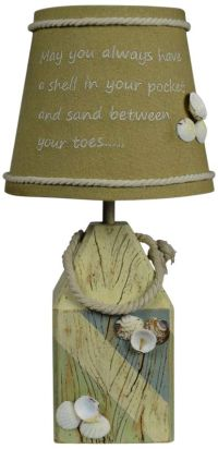 Shell Buoy Blue and Green Accent Table Lamp - #24T12 ...