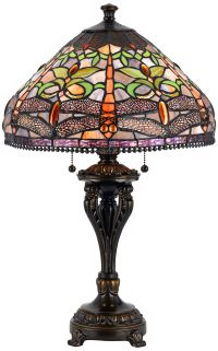 Dragonfly Tiffany-Style Antique Bronze Table Lamp - #2C474 ...