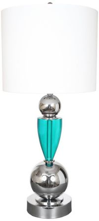 Van Teal Every Week Turquoise And Chrome Table Lamp ...