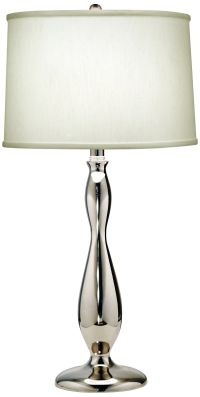 Stiffel Polished Nickel And Pearl Satin Table Lamp