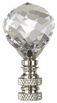 Swarovski Faceted Crystal Ball Lamp Shade Finial - #32441 ...