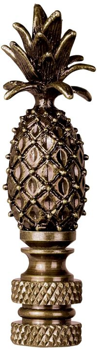 Pineapple Antique Silver Lamp Shade Finial - #32720 ...