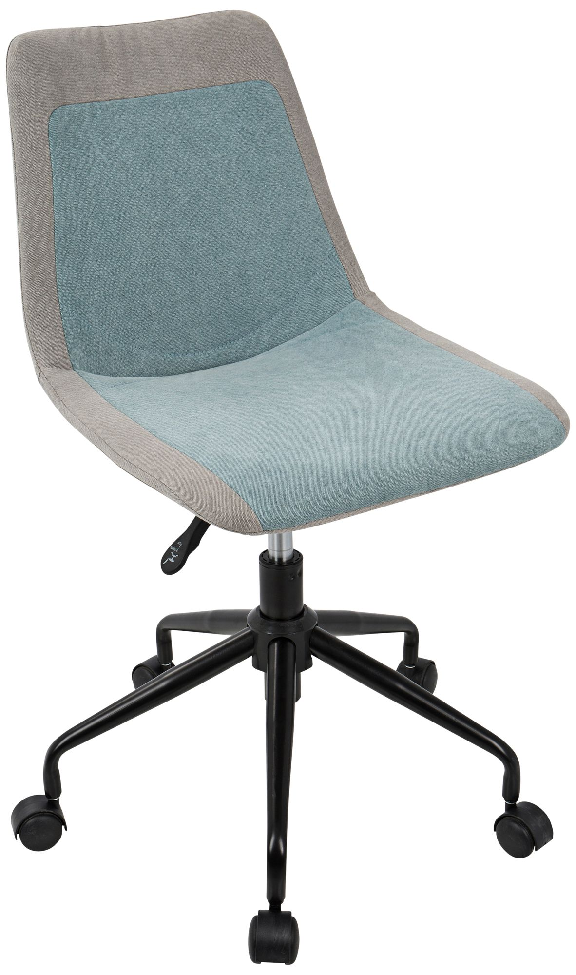 turquoise office chair armrest chairs new home desk lamps plus orzo gray and blue denim adjustable task