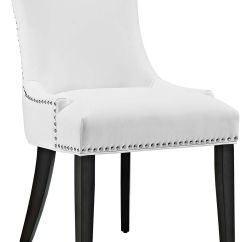 Faux Leather Dining Chairs Accent With Arms Room Seating Lamps Plus Marquis White Chair