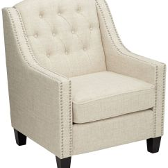White Tufted Chairs Stacking Tivoli Linen Armchair 34n87 Lamps Plus