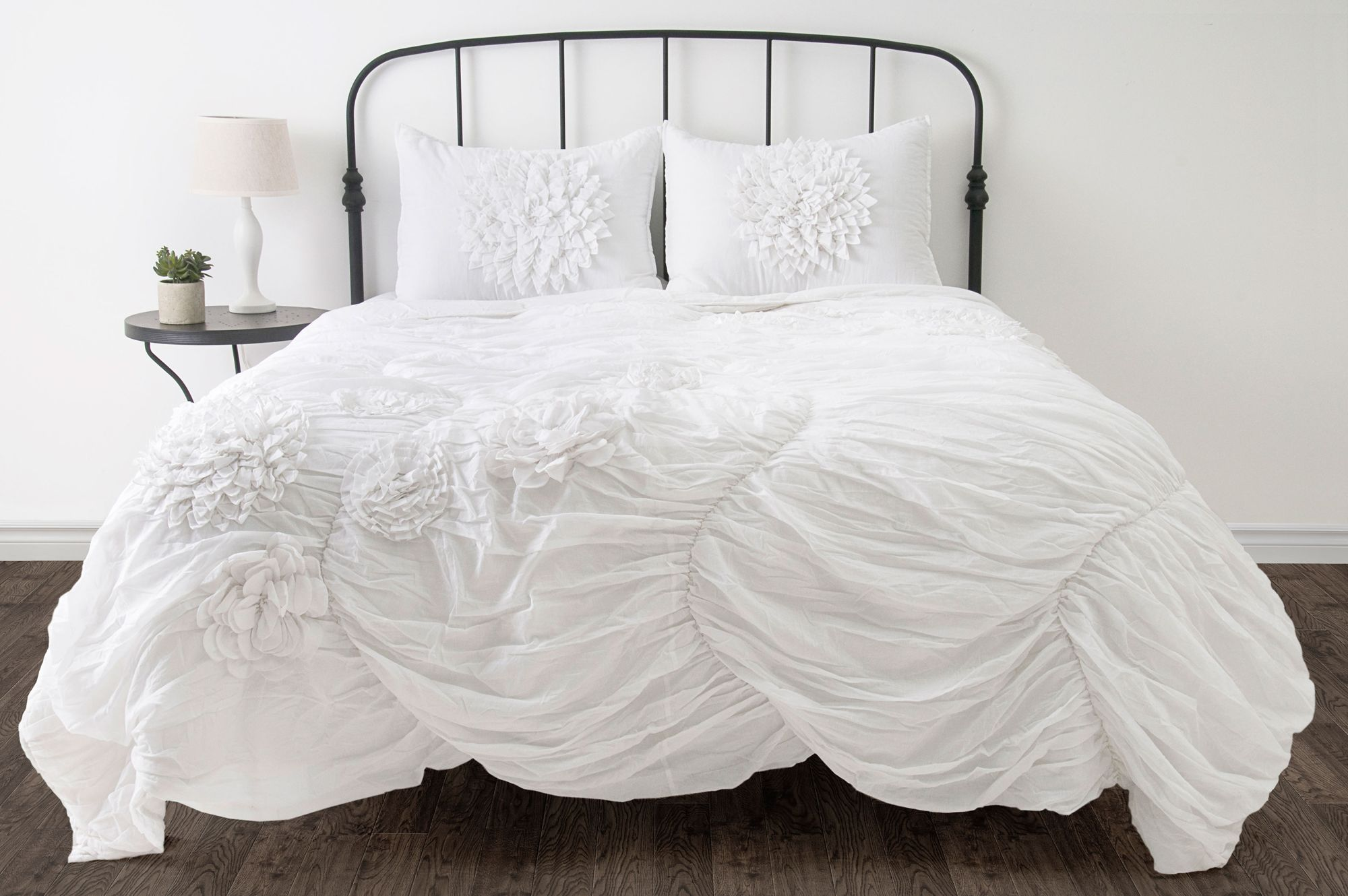 Hush Ruched Comforter Bedding Sets