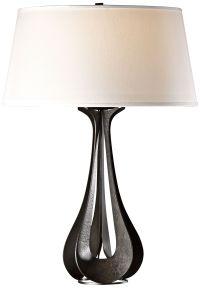 Hubbardton Forge Lino Dark Smoke Modern Table Lamp ...
