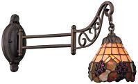 Grape Bronze Tiffany Style Swing Arm Wall Lamp - #3F439 ...
