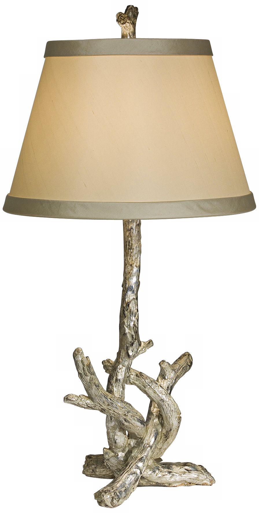 Natural Light Silver Branch Table Lamp