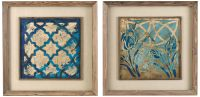 "Set Of 2 Uttermost 31"" Square Stained Glass Wall Art ..."