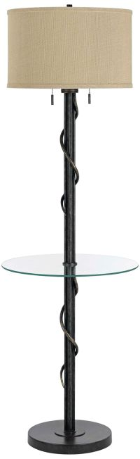 Gitano Dark Iron Floor Lamp With End Table - #3N147 ...