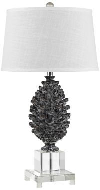 Pine Cone and Crystal Table Lamp - #3T148 | Lamps Plus