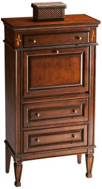 Madison Plantation Cherry Secretary Cabinet - #3T275 ...