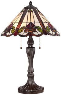Quoizel Fields Tiffany Style Floral Table Lamp