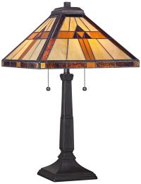 Quoizel Bryant Tiffany Style Architectural Table Lamp ...