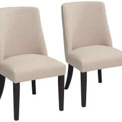 Cream Upholstered Dining Chairs Sand Bag Chair Manchester Parsons Set Of 2 44e70 Lamps Plus