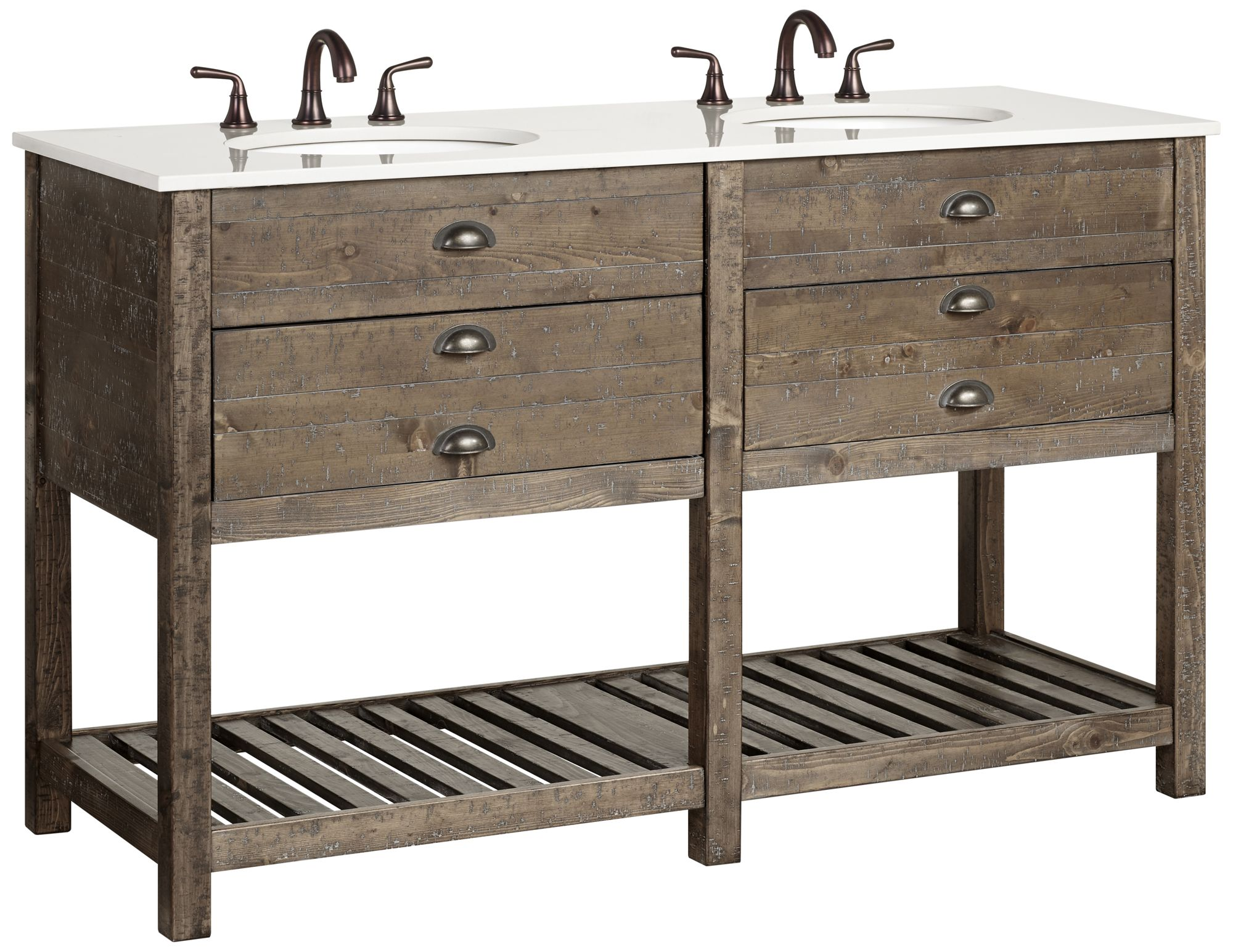 crosett cayhill 57 wide cultured marble double sink vanity