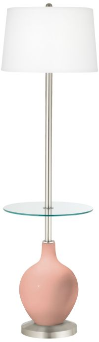 Mellow Coral Ovo Tray Table Floor Lamp - #4C529-7G949 ...