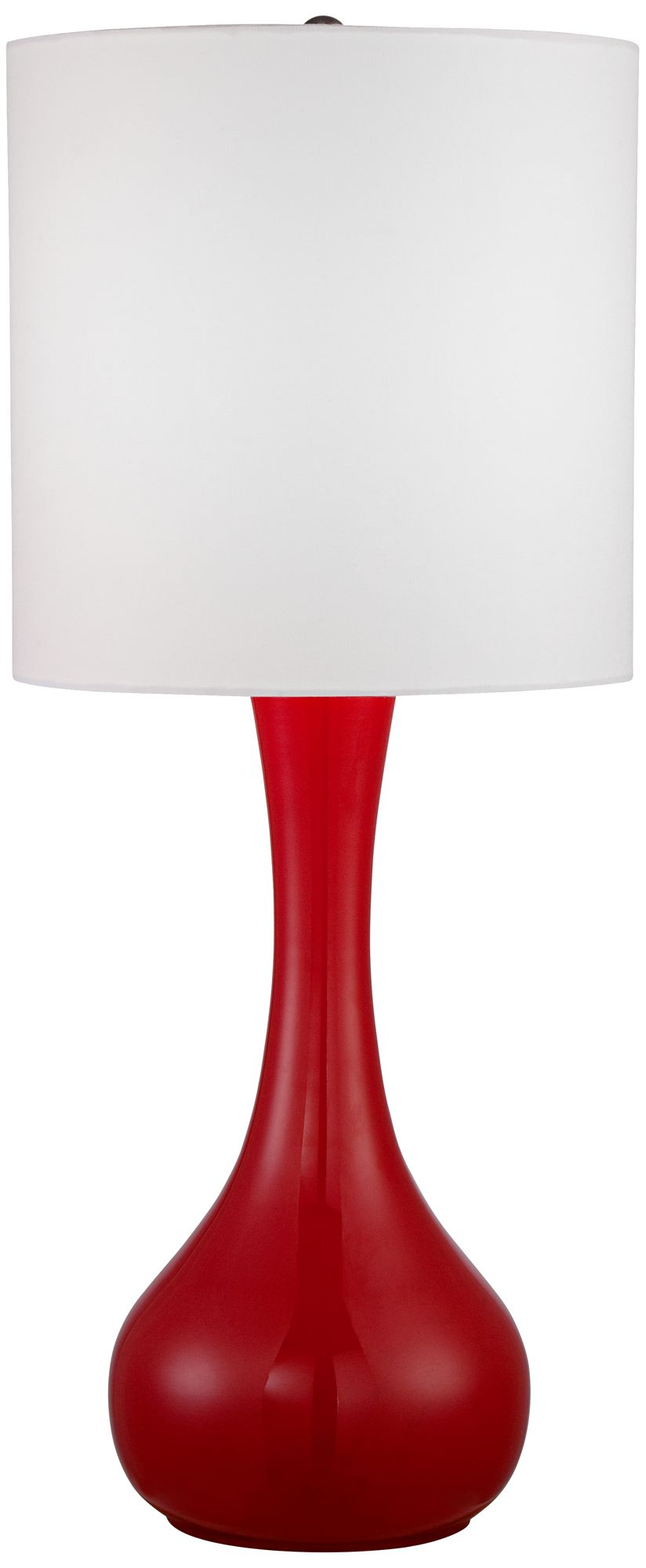 Bright Red Droplet Table Lamp