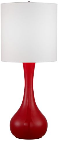 Bright Red Droplet Table Lamp - #4H260-2F568 | Lamps Plus