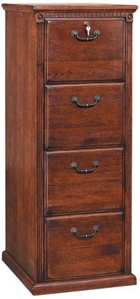 Kathy Ireland Huntington Burnished 4-Drawer File Cabinet ...