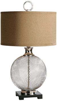 Uttermost Catalan Polished Nickel Cage Table Lamp - #4T785 ...