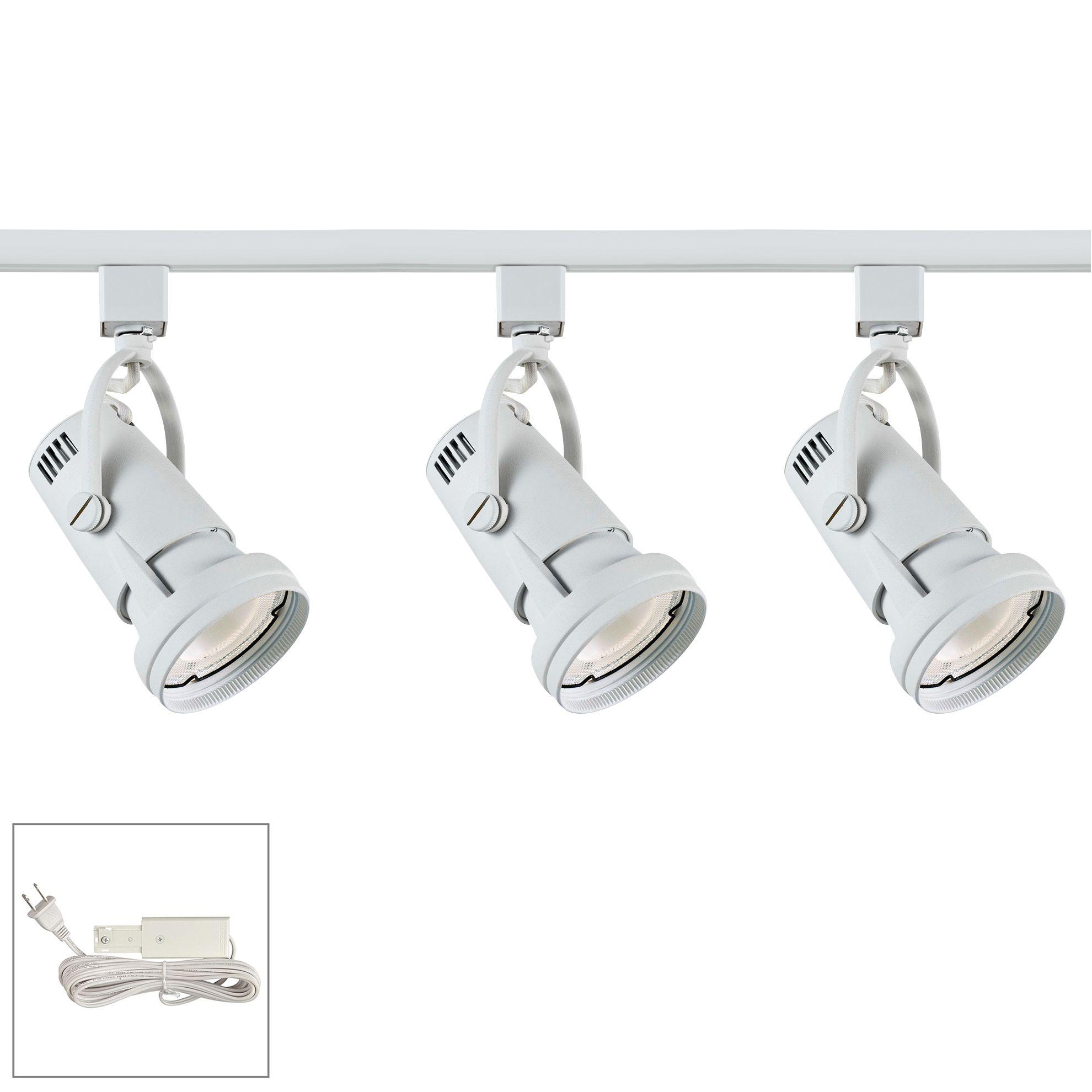 riley 17w 3 light white led plug in linear track kit