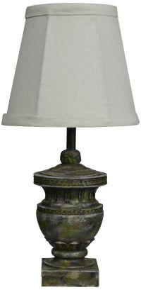 Capri Classic Concrete Color Urn Small Accent Table Lamp ...
