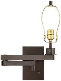 Bronze Plug-in Swing Arm Wall Lamp Base - #5D685 | Lamps Plus