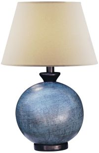 Pitkin Blue Round Table Lamp - #5G075 | Lamps Plus