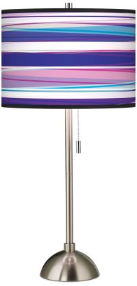 Purple Neon Giclee Shade Table Lamp - #60757-56502 | Lamps ...