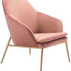 Velvet Armchair Pink Eyebrow Threading Chair Zuo Debonair 60d30 Lamps Plus