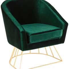 Tub Accent Chair Swivel Slipcover Canary Emerald Green Velvet 60g29 Lamps Plus