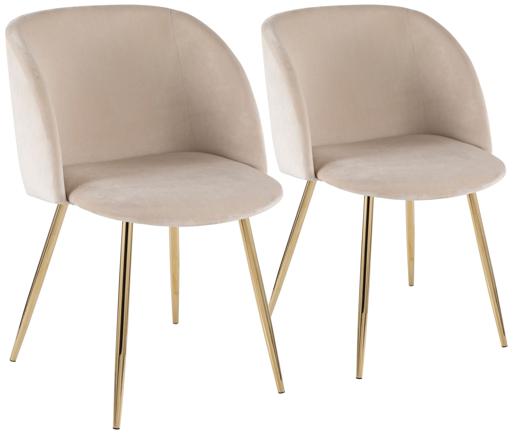 gold dining chairs room clearance seating lamps plus fran metal and cream velvet set of 2