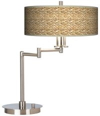 Seagrass Giclee CFL Swing Arm Desk Lamp - #61495-N1683 ...