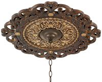 "Zaragoza Golden Bronze 24"" Wide Ceiling Medallion"