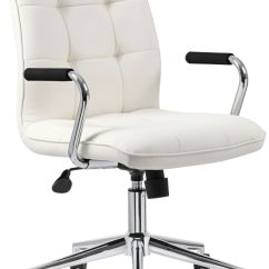 Modern White Desk Chair Hanging Teenager Office Chairs New Home Lamps Plus Boss Caressoftplus Adjustable