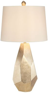 Avizza Faceted Champagne Table Lamp - #6H388 | Lamps Plus