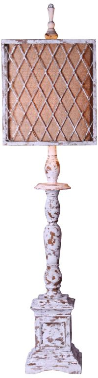 Scarborough Distressed White Table Lamp - #6Y186 | Lamps Plus
